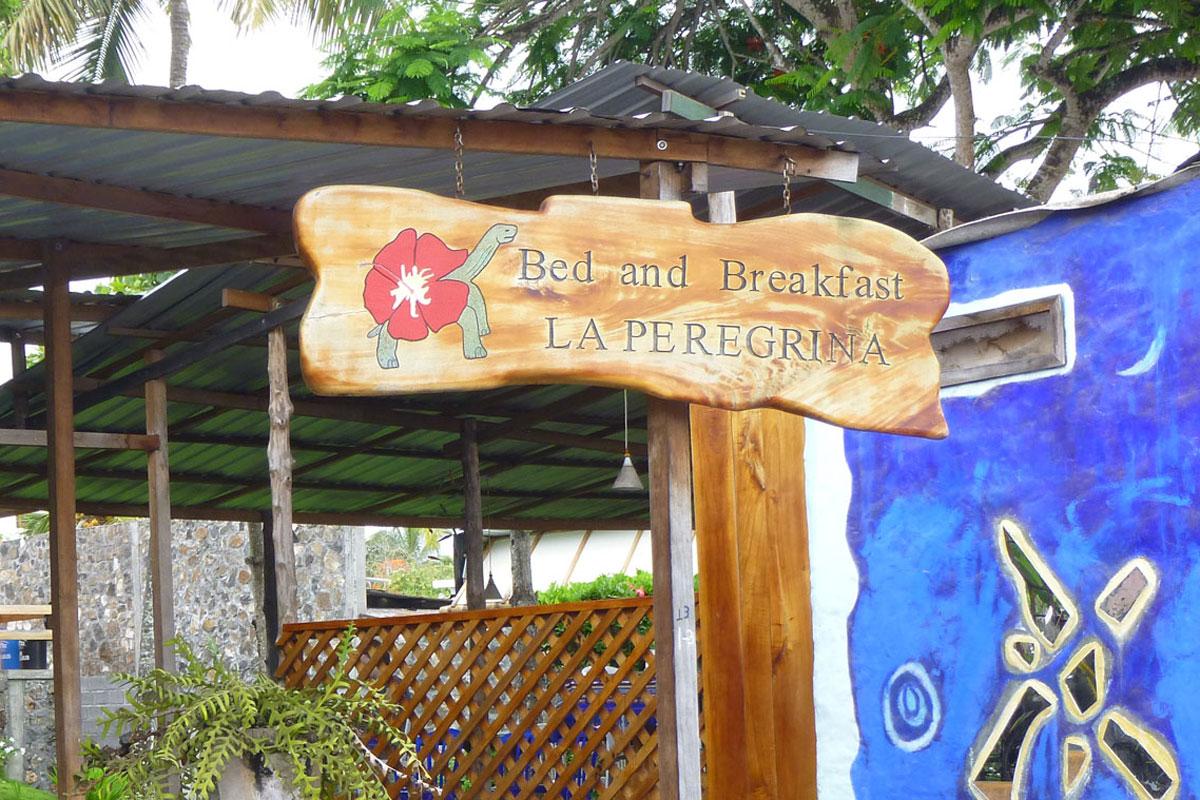 la peregrina galapagos santa cruz entrance